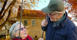 Elderly couple independent at home